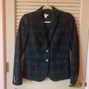J.Crew Black Watch Blazer